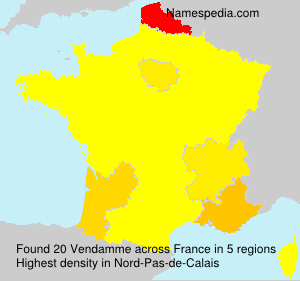 Surname Vendamme in France