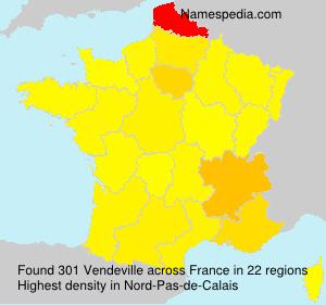Surname Vendeville in France