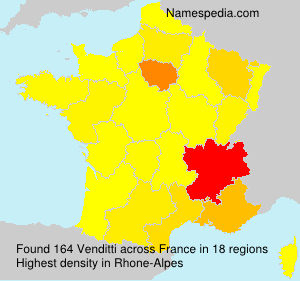 Surname Venditti in France