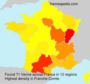 Familiennamen Venne - France