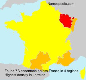 Surname Vennemann in France