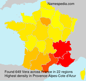 Surname Vera in France