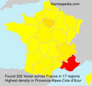 Surname Veran in France