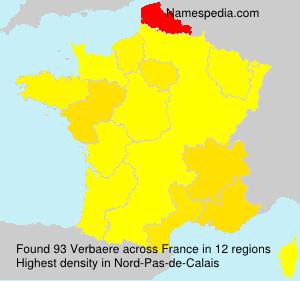 Surname Verbaere in France