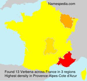 Surname Verbena in France