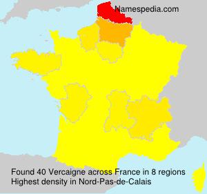 Surname Vercaigne in France