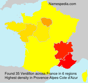 Surname Verdillon in France