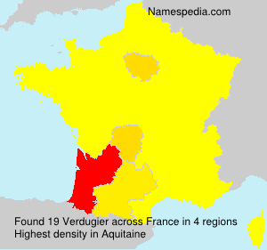 Surname Verdugier in France