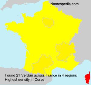 Surname Verduri in France