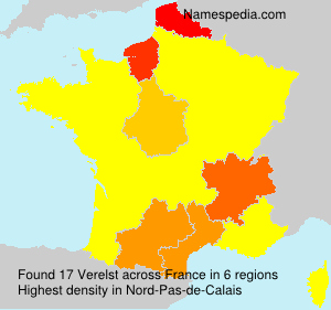 Surname Verelst in France