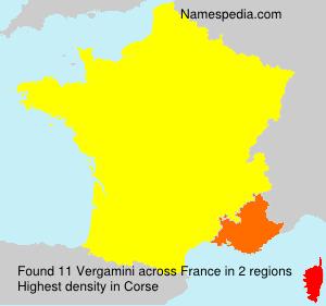 Familiennamen Vergamini - France