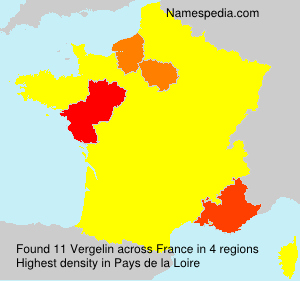 Surname Vergelin in France