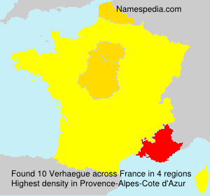 Surname Verhaegue in France
