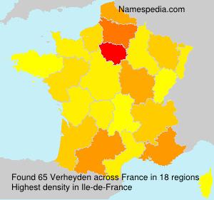 Surname Verheyden in France