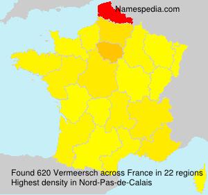 Surname Vermeersch in France