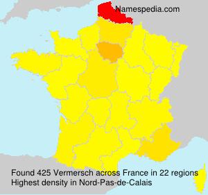 Surname Vermersch in France
