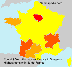 Surname Vermillon in France