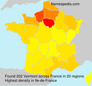 Surname Vermont in France