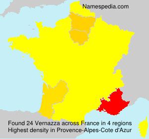 Surname Vernazza in France