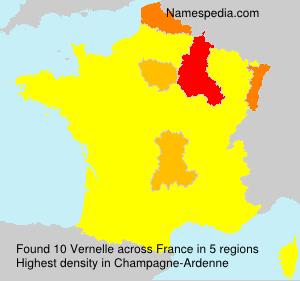 Surname Vernelle in France