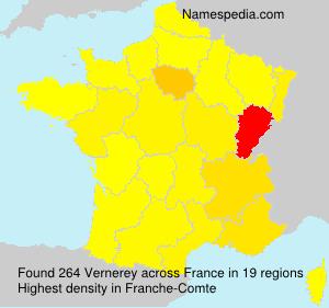 Surname Vernerey in France