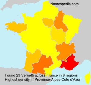 Surname Vernetti in France