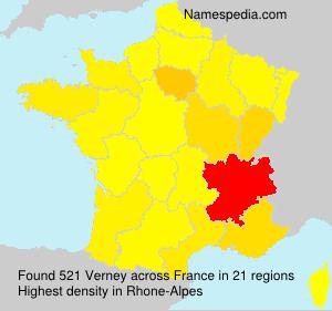 Surname Verney in France