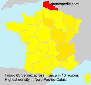 Surname Vernez in France