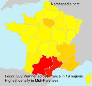 Surname Vernhet in France