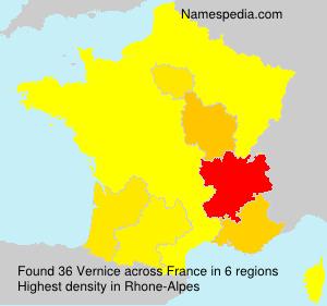 Surname Vernice in France