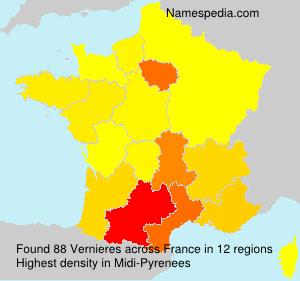 Surname Vernieres in France