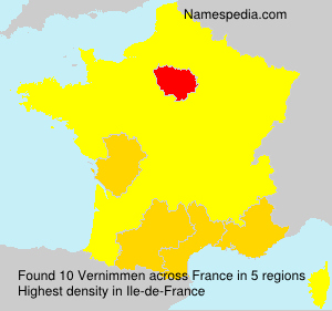 Surname Vernimmen in France