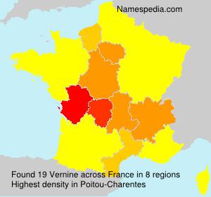 Surname Vernine in France