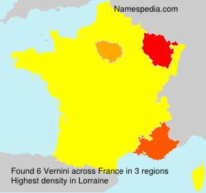 Surname Vernini in France