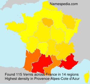 Surname Vernis in France