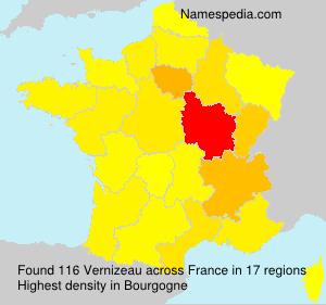 Surname Vernizeau in France