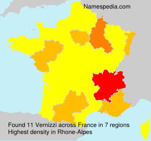 Surname Vernizzi in France