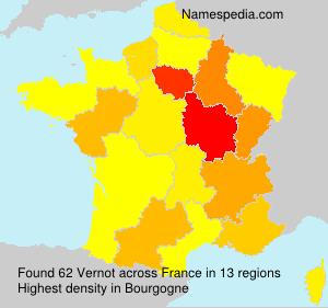 Familiennamen Vernot - France