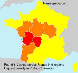 Surname Vernou in France