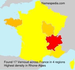 Surname Vernoud in France