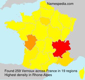 Surname Vernoux in France