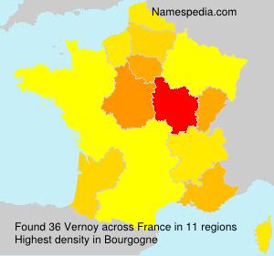 Surname Vernoy in France