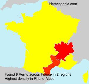 Surname Vernu in France