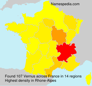 Surname Vernus in France