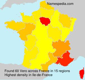 Surname Vero in France