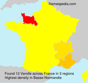 Surname Verolle in France