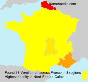 Surname Verolleman in France