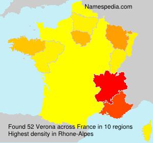 Surname Verona in France