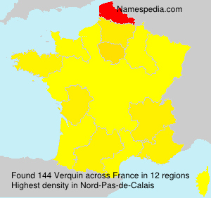 Surname Verquin in France