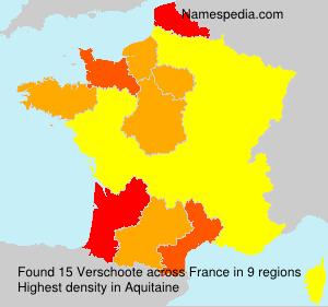 Surname Verschoote in France